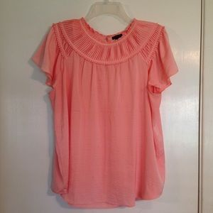 Ann Taylor pleated blouse